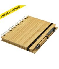 Libreta tapa de bambu
